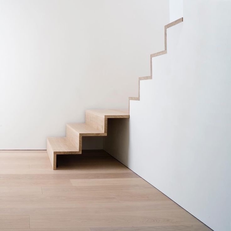 Minimalistic staircase and wide plank flooring - Oak by Dinesen