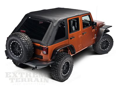 Rampage Frameless Trailtop Soft Top Kit Black Diamond