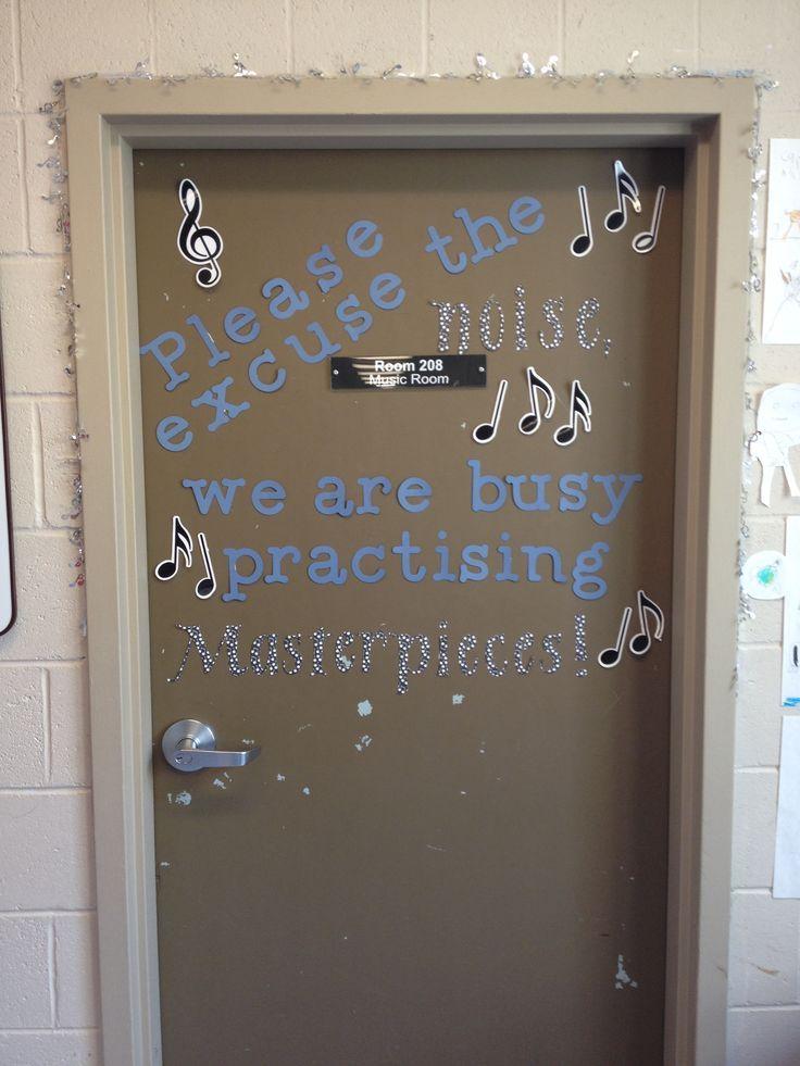 Classroom Ideas Using Cricut : Music room door idea created using the cricut machine
