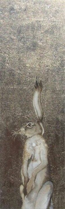 What is it about a hare?  Jackie Morris painting