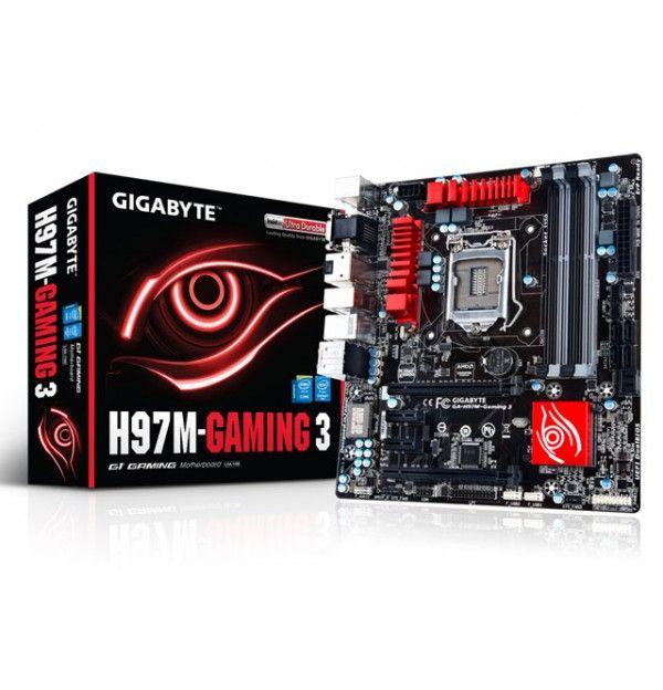 PLACA MAE LGA 1150 INTEL GAMER SERIE 9 GIGABYTE GA-H97M-GAMING 3 MATX DDR3 1600MHZ CHIPSET H97 RAID CROSSFIRE