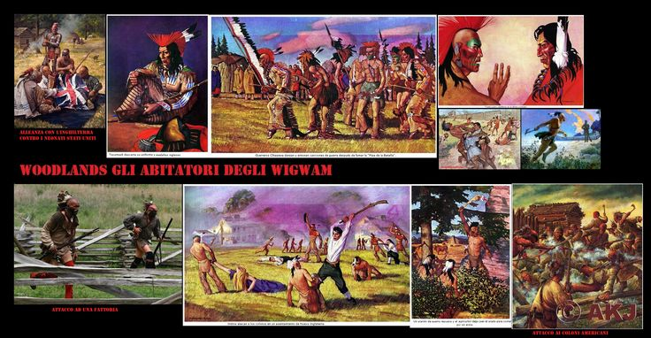 Una lunga serie di guerre coinvolse le woodlands nordorientali che comprese: la guerra franco-indiana (1754–1763), la Guerra di Pontiac (1763–1764), la guerra di Lord Dunmore (1774) e la guerra di indipendenza americana (1775–1783). La guerra indiana del Nord-Ovest (1785–1795),  la guerra di Tecumseh (1811) e con la guerra anglo-americana (da qui il termine la guerra dei 60 anni (1754–1814) Il conflitto con gli Stati Uniti comunque proseguì fino agli anni 1830