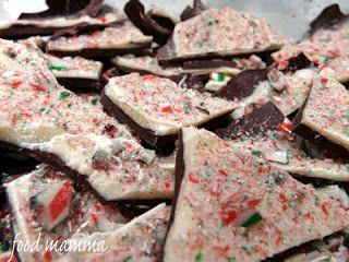 Food Mamma: candy cane bark and the sweet holiday blog hop