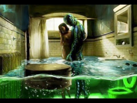 The Shape Of Water Bathroom Scene Painting Shape Of