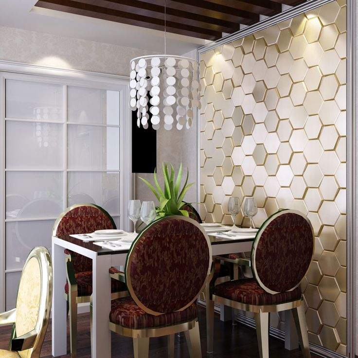 3d faux leather tile 12001 for dining room design idea for
