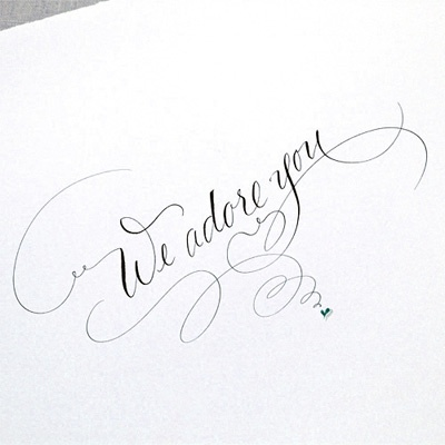 what lovely unstuffy calligraphy