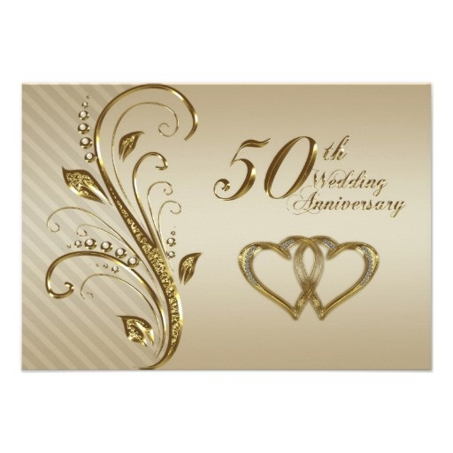 50th Wedding Anniversary Rsvp Card Tarjetas De Aniversario