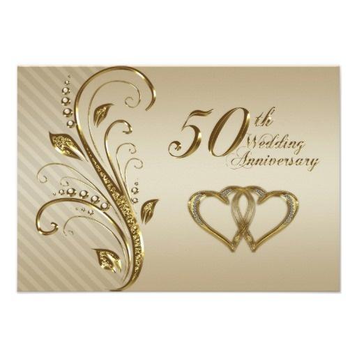 50 º aniversario de boda tarjeta de RSVP