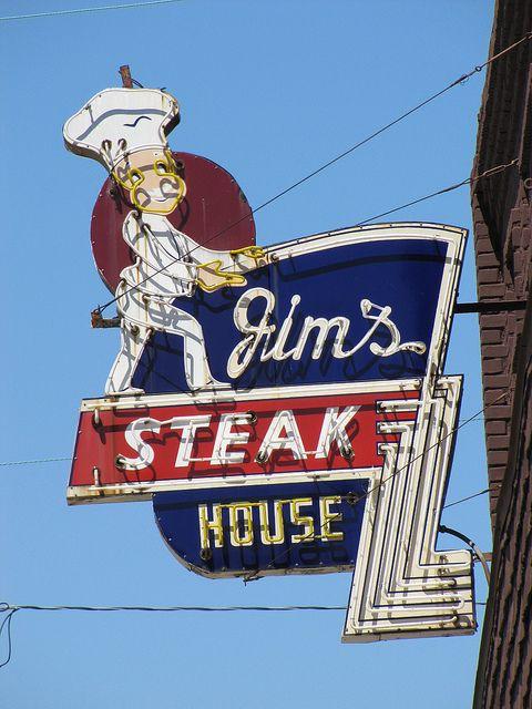 Jim's Steakhouse 1912 North Broadway, Pittsburg, Kansas. A local favorite, great steak!