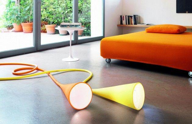 Plastic rubber lamps.