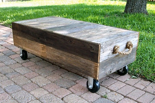Salvaged Wood Turned Rustic Coffee Table — Addicted 2 Decorating