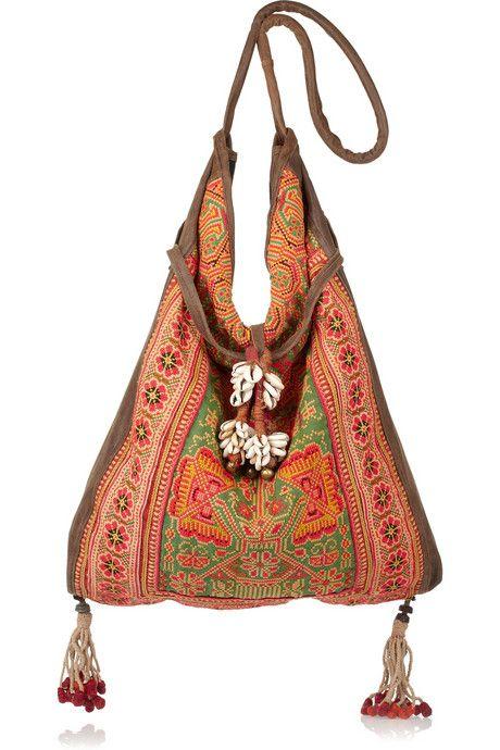 orange boho bag