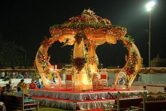 Beautiful mandap decor.  Find more wedding inspiration at www.weddingsonline.in