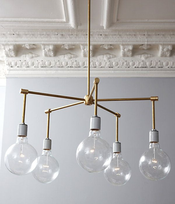 Easy way to make a broken chandelier industrial.