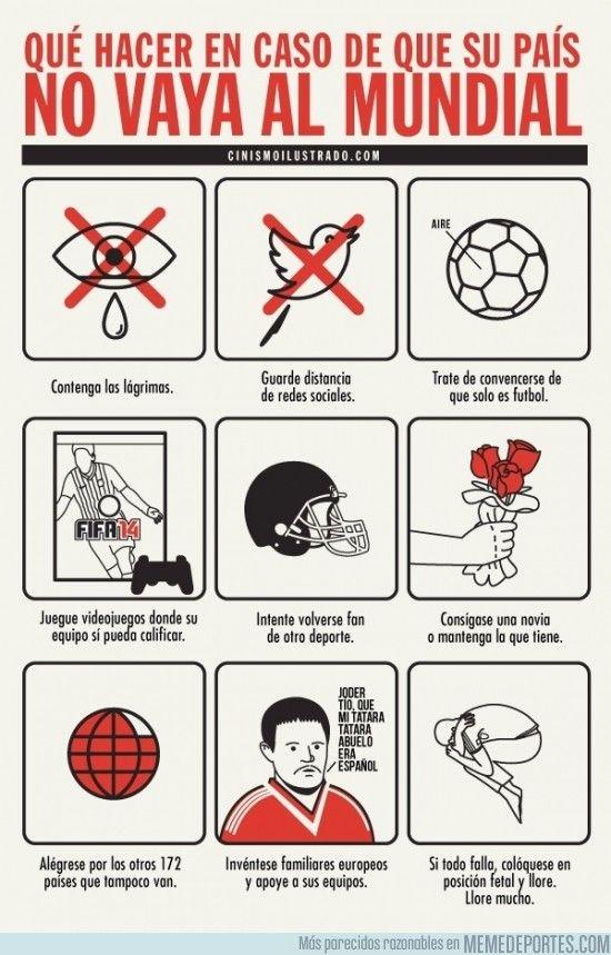 185544 - Plan de emergencia si tu país no va al mundial #futbol #Brasil2014