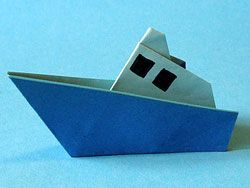 how to make a yacht origami