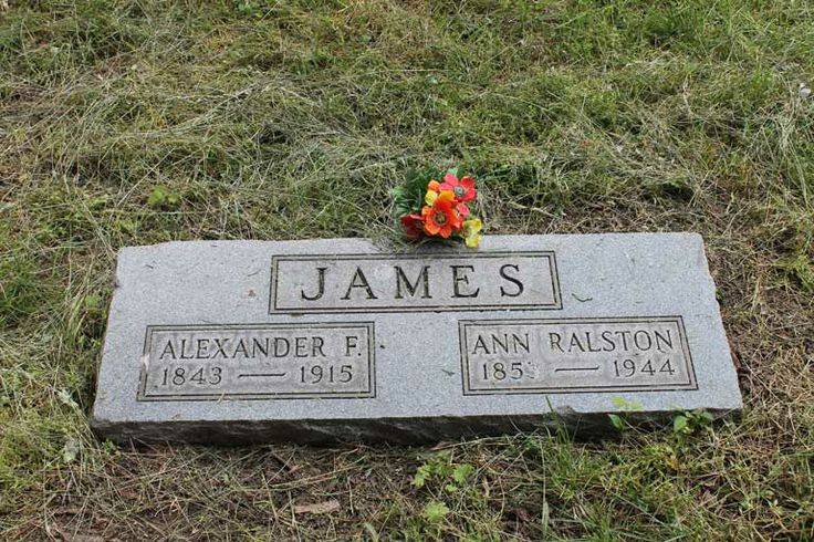 The grave of Frank James and his wife, Annie Ralston, in Independence, MO. Frank was cremated and, not wanting his ashes disturbed, they were held in a vault until his wife passed away and they could be buried side-by-side.