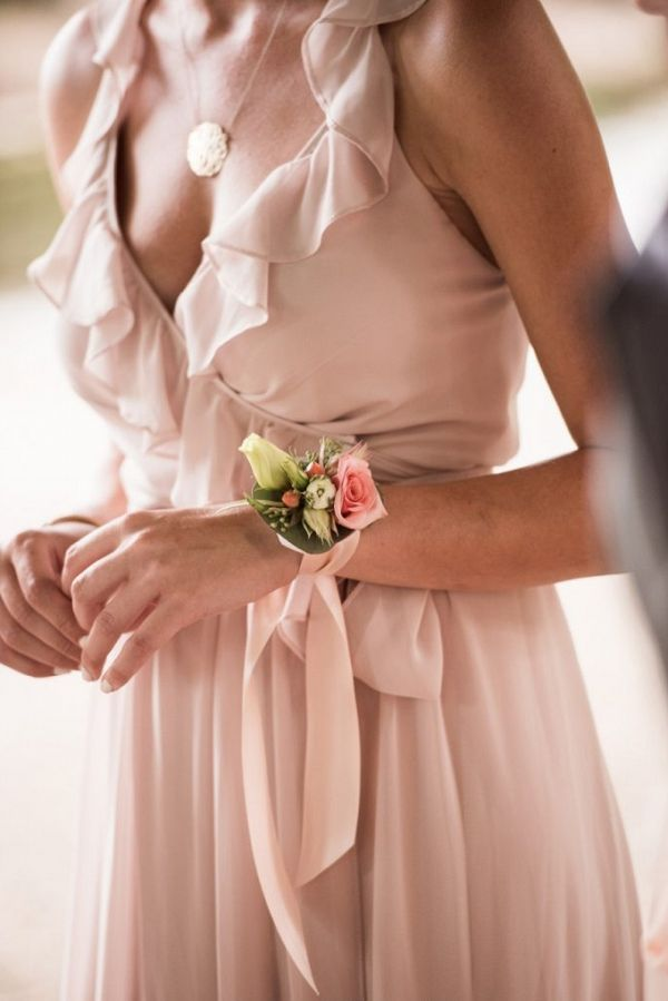 Pink and White Bridesmaid Corsage |  | Parker J Pfister Photography on @mtnsidebride via @aislesociety