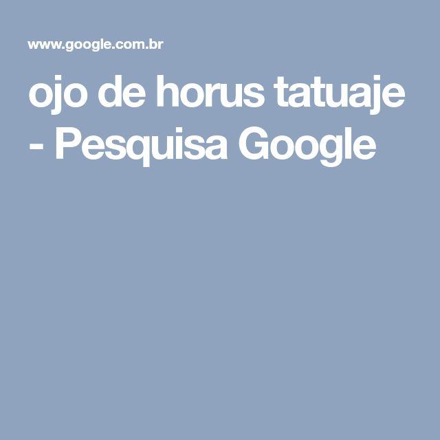 ojo de horus tatuaje - Pesquisa Google