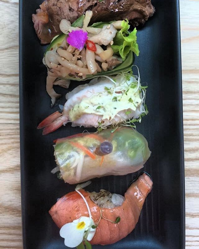 Stunning and delicious sushi lunch