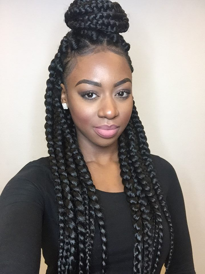 Box Braided Beautiful Style Ladies of Natural Hair Mag, Eunice #naturalhairmag