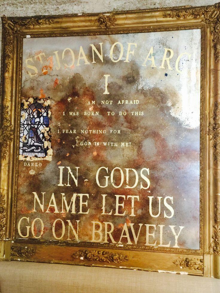 """Saint Joan"" Johnny Darko Artist. Oil over Gold Leaf 108cm x 118cm"