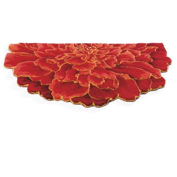 Half Round Peony Indoor Rug ($99) ❤ Liked On Polyvore Featuring Home,