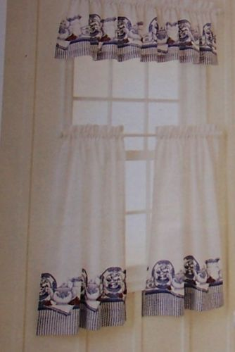 Blue Willow Pattern Cafe Curtains Cute That S So Karen