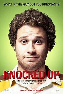 ROMANTIC:  Knocked UP  a 2007 American romantic comedy drama film starring Seth Rogen, katherine Heigl, Paul Rudd and Leslie Mann. The film follows the repercussions of a drunken one-night stand between a slacker and a just-promoted media personality that results in an unintended pregnancy.