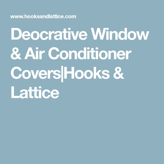 Deocrative Window & Air Conditioner Covers|Hooks & Lattice