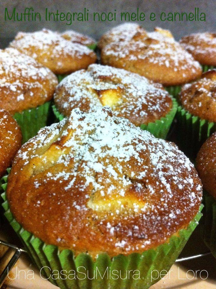 muffin integrali alle mele e noci