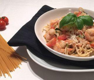 Romige Spaghetti met Garnalen