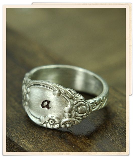 dainty rose spoon ring