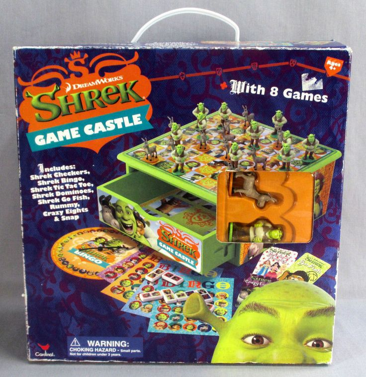 SHREK GAME CASTLE DREAMWORKS w 8 GAMES NEW CHECKERS BINGO