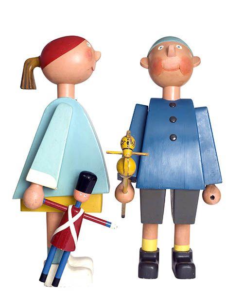 Kay Bojesen | Ole and Lise ✭ Playfull design, Maison du Danemark ✭ mid century modern toy
