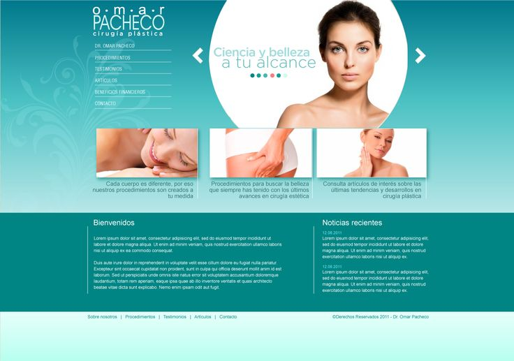 Sitio web para cirujano OMAR PACHECO - Año ©2011