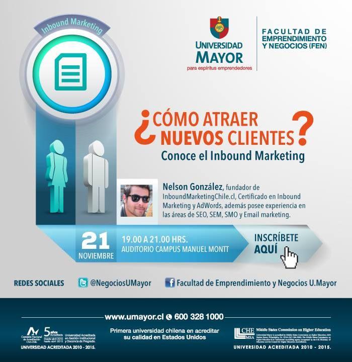 Conoce las claves del Inbound Marketing. Inscríbete!  #inboundmarketing #umayor   #universidad #santiagodechile
