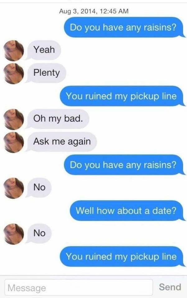 lame tinder pick up lines