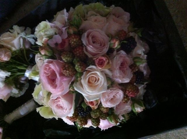 Blackberry & David Austin roses Bridal Bouquet by Paperwhite Flowers www.paperwhiteflowers.co.uk