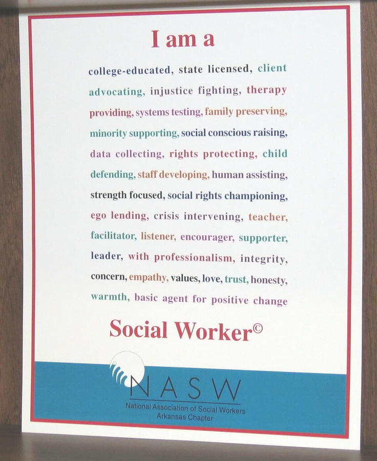 Social worker : Yes I am, and proud to be!!!