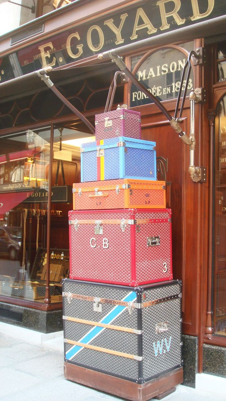 These Vintage Goyard Trunks are whimsical, colorful and beautiful. To think of the women who had the pleasure to travel with them is awe inspiring.