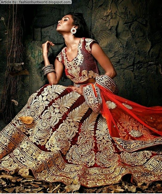 Royal Indian Bridal Lehenga Suits 2015-2016   Imperial Wedding Dresses In India Fashion Market - Reviews on Fashion to Figure