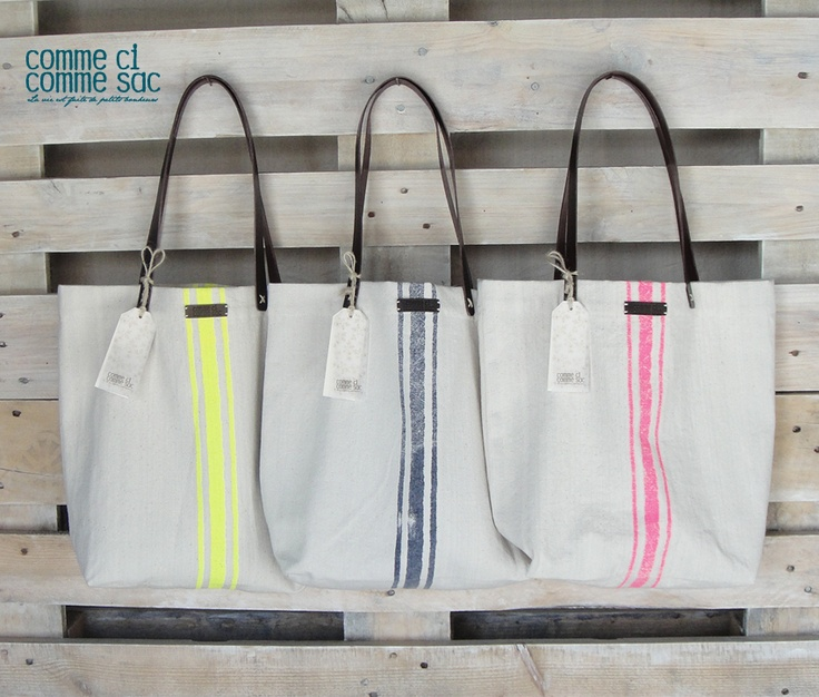 canvas bag, with fluor print
