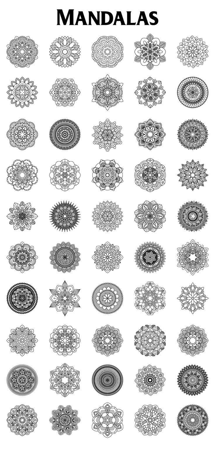 Mandalas Collection 25493 Decorations Design Bundles Mandala Tattoo Mandala Tattoo Design Mandala Art Lesson
