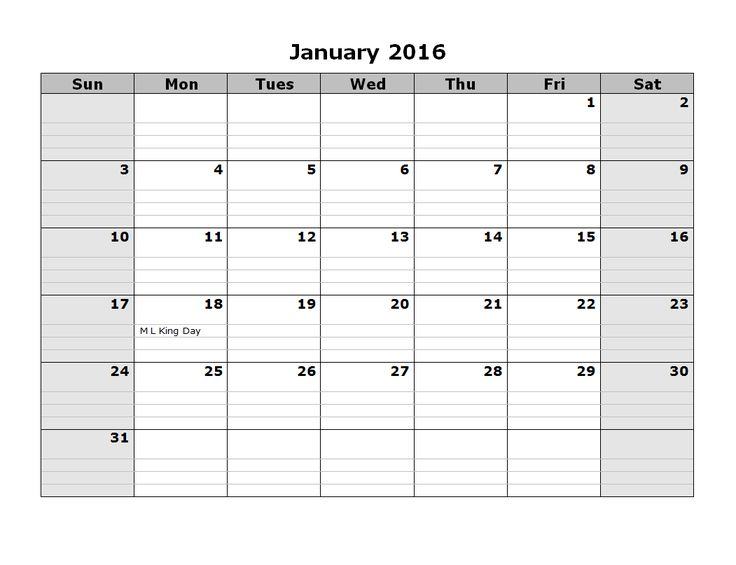 The 25+ best Blank monthly calendar 2016 ideas on Pinterest - printable monthly calendar sample