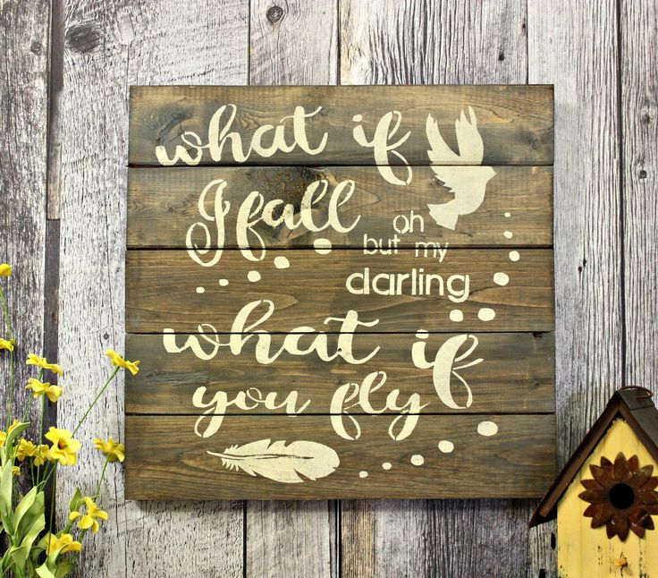 What If I Fall...What If You Fly. by WhereTheCrowFliesCA on Etsy