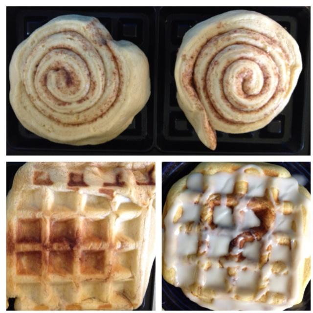 Cinnamon roll waffles. Yum!!!