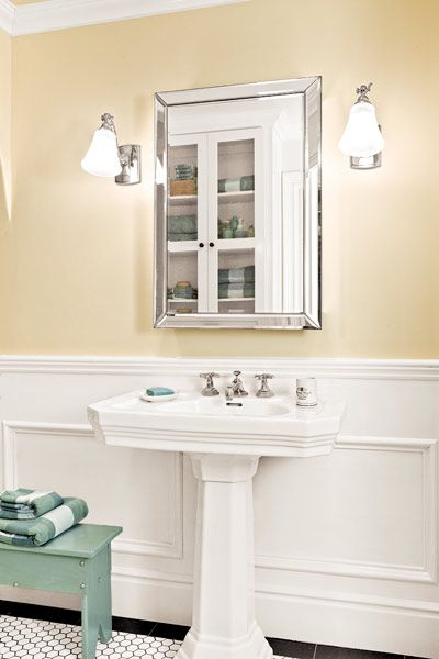23 best ideas about wainscoting bathroom reno on pinterest for Windowless kitchen sink