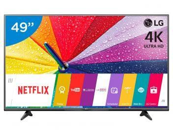 """Smart TV LED 49"""" LG 4K/Ultra HD 49UF6800 WebOs - Conversor Digital Wi-Fi 2 HDMI 1 USB com as melhores condiçoes voce encontra na magazinetiozao007 confira!"""