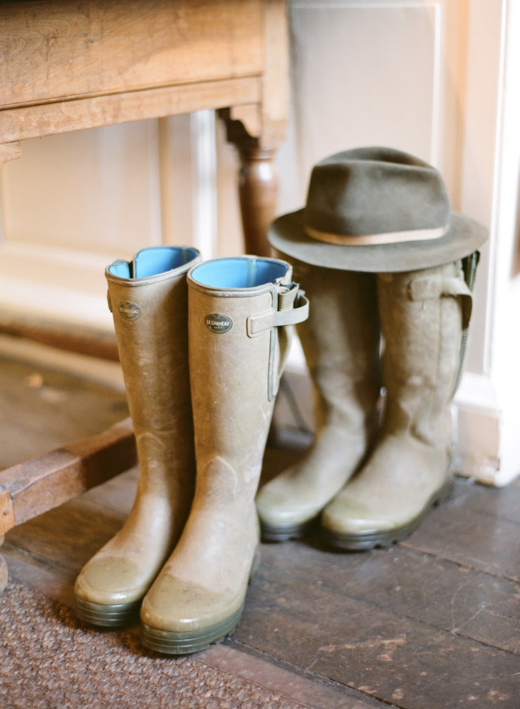 House wellies. And Frank from Wellow Trekking's personal wellies and hat. Frank…